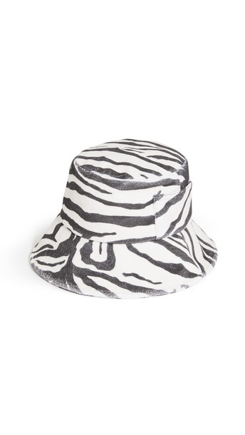 Lack Of Color Wave Bucket Hat in black / white
