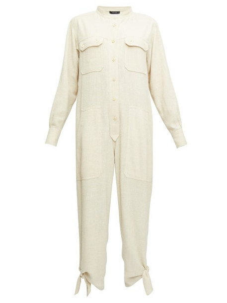 Isabel Marant - Tacaia Ankle-tie Jumpsuit - Womens - Ivory