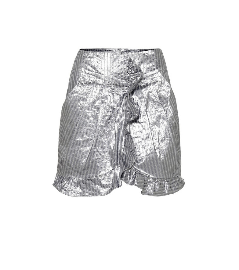 Isabel Marant Exclusive to Mytheresa – Mucius striped metallic miniskirt in silver