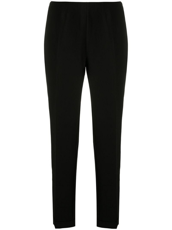 Armani Exchange high-waisted tapered trousers in black