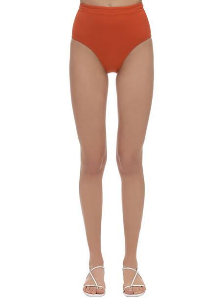 BONDI BORN Tatiana Lycra High Waist Bikini Bottoms in orange