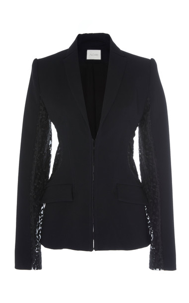 Alexis Amrita Lace-Trim Blazer in black