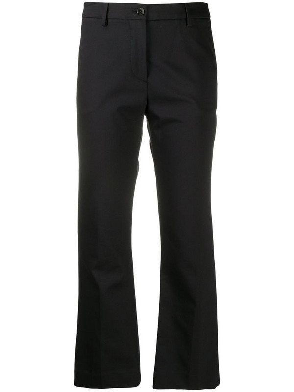 Pt01 cropped bootcut trousers in black