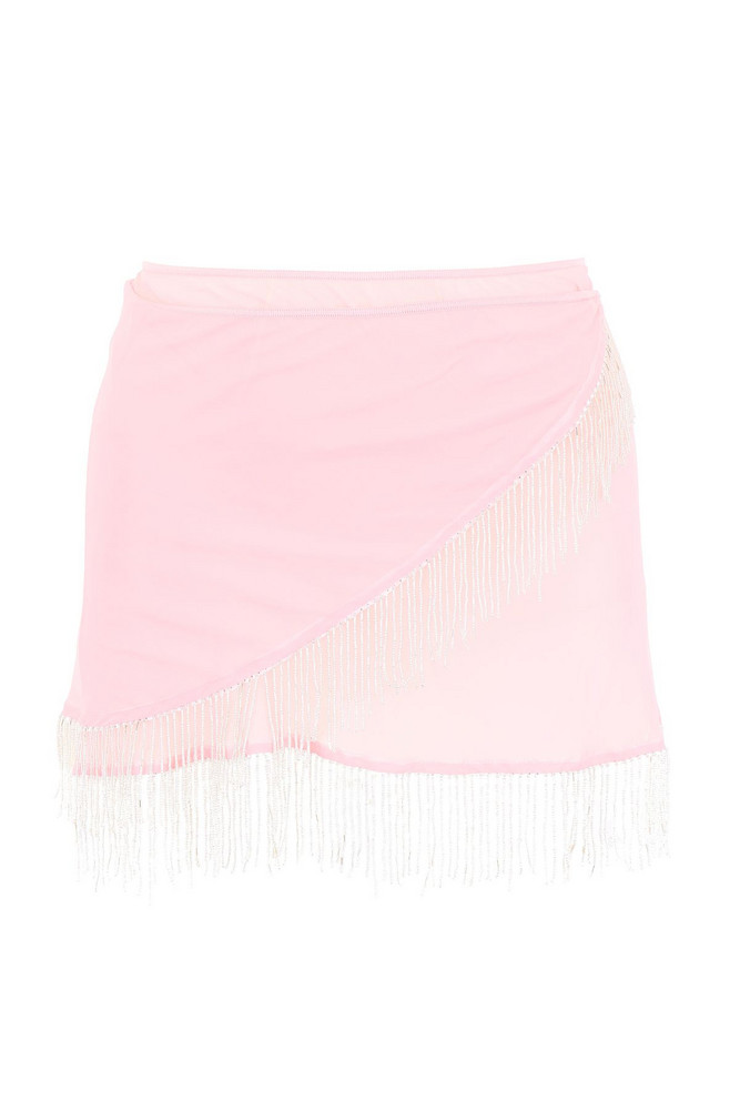 Oseree Pearls Collection Mini Skirt in pink