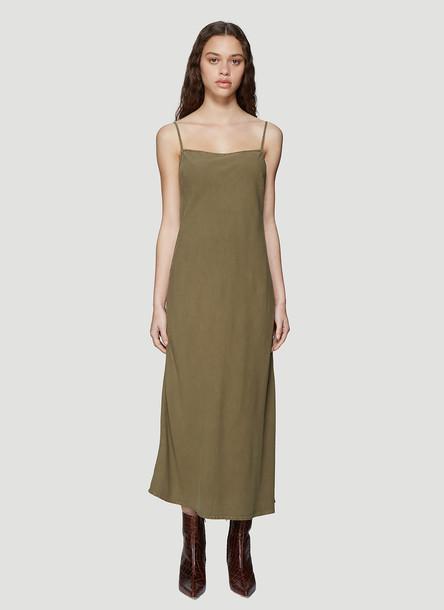 Our Legacy Bias Cut Slip Dress in Green size FR - 34