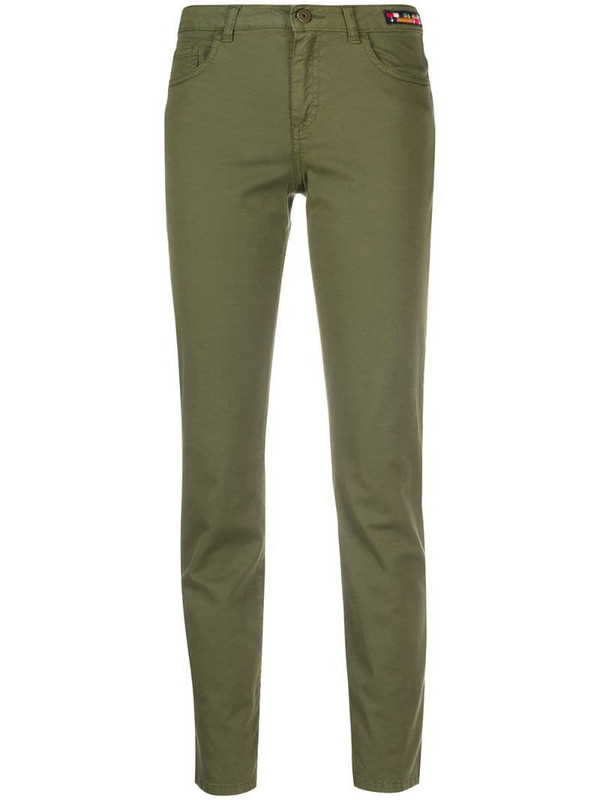 Mr & Mrs Italy straight leg trousers in green