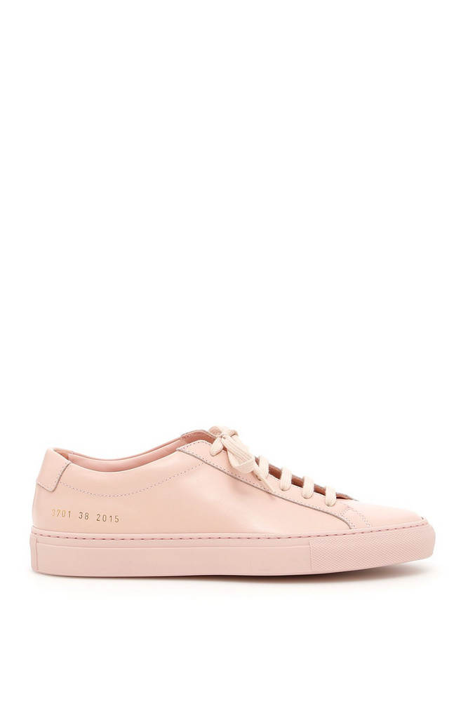 Common Projects Original Achilles Sneakers in pink / white