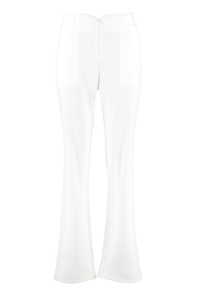 Pinko Progettare Open-work Knitted Trousers in white