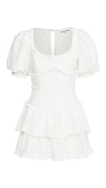 For Love & Lemons Iris Mini Dress in white
