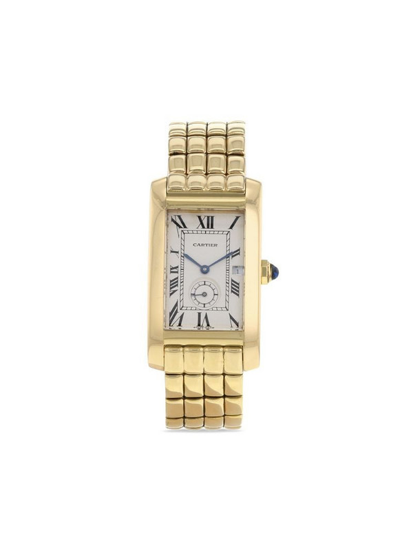 Cartier 1990 pre-owned Tank Américaine 24mm in white