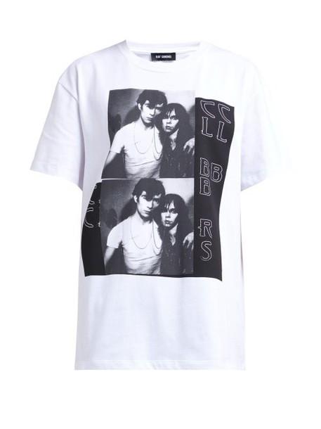 Raf Simons - Photographic Print Cotton T Shirt - Womens - White Multi