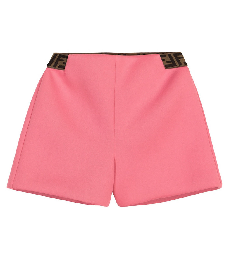 Fendi Kids Baby FF shorts in pink