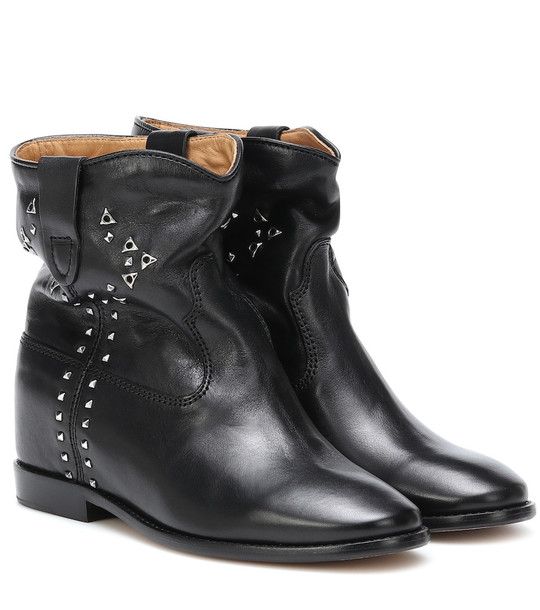 Isabel Marant Cluster studded leather ankle boots in black