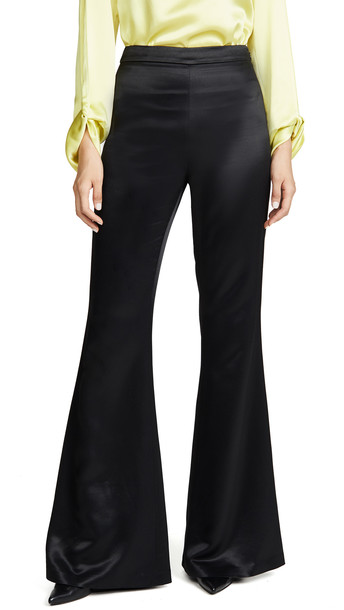 Brandon Maxwell Classic Flare Pants in black