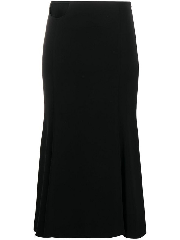 Versace cut-out detail skirt in black