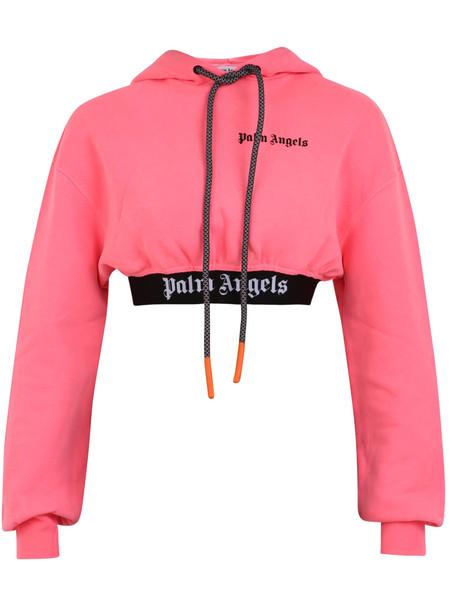 Palm Angels Branded Sweatshirt in pink