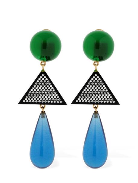 THE ATTICO Clizia Multicolor Resin Clip-on Earrings in multi