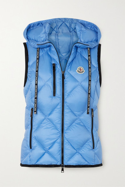 Moncler - Sucrex Hooded Quilted Shell Down Vest - Blue