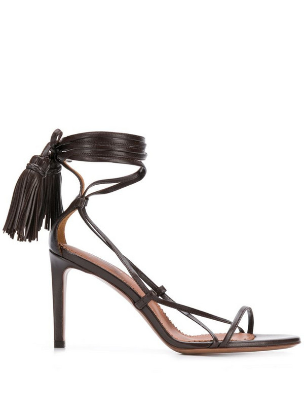 L'Autre Chose strappy ankle-tie sandals in brown