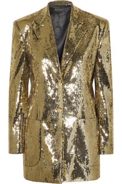 Dundas - Sequined Crepe Blazer - Gold
