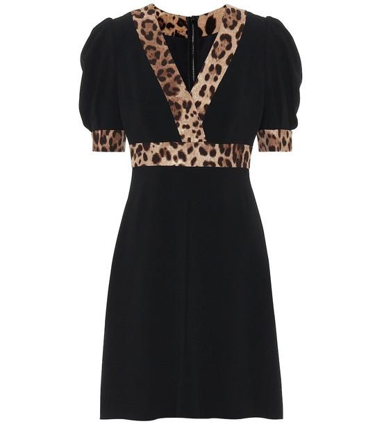 Dolce & Gabbana Crêpe minidress in black