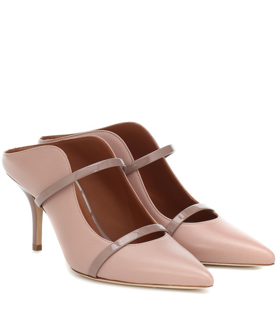 Malone Souliers Maureen 70 leather mules in pink
