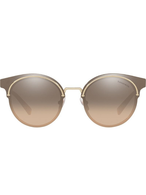 Tiffany & Co Eyewear round mirrored sunglasses in gold