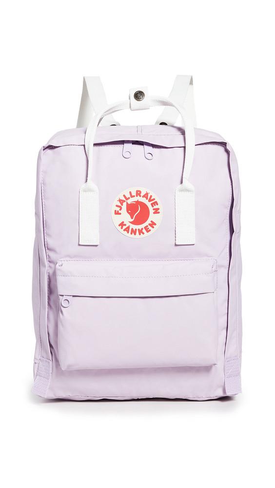 Fjallraven Kanken Backpack in lavender / white