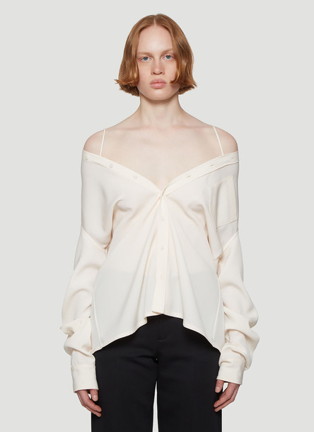 Maison Margiela Shoulder Detail Shirt in Beige size IT - 44