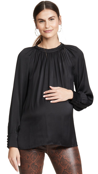 HATCH The Clarabelle Top in black