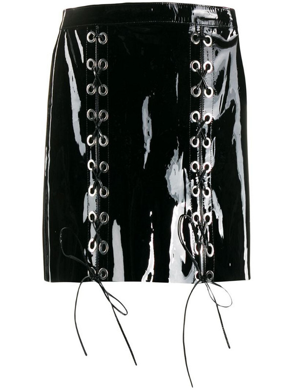 Manokhi lace-up detail mini skirt in black