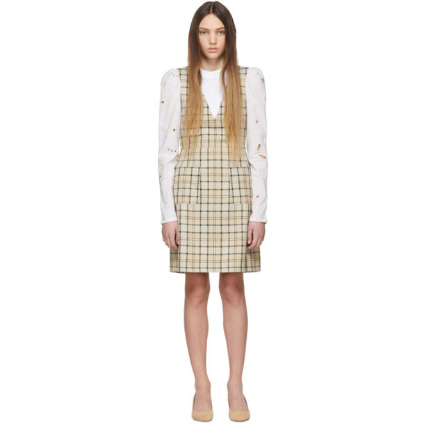See by Chloé See by Chloé Beige Checkered Shift Dress