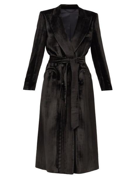 Blazé Milano - Étoile Silk-blend Velvet Blazer Dress - Womens - Black