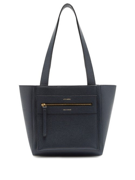 Lutz Morris - Savoy Small Leather Tote Bag - Womens - Navy