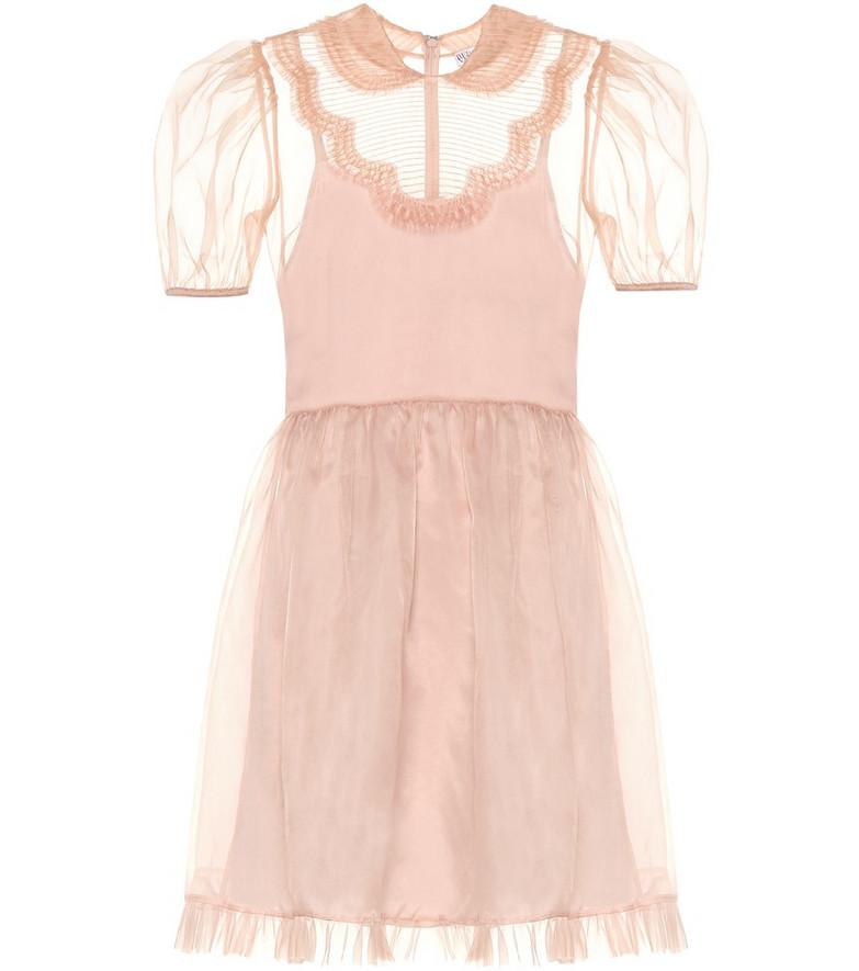 REDValentino Organza minidress in pink