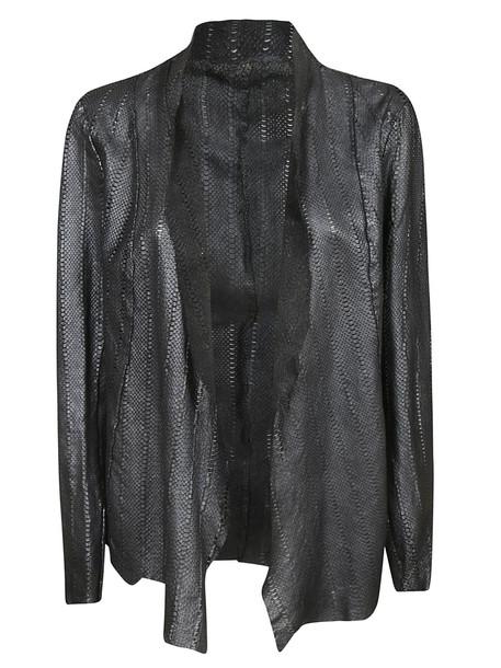 Salvatore Santoro Open Front Blazer in black / silver