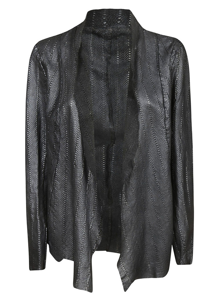 Salvatore Santoro Open Front Blazer in black / silver