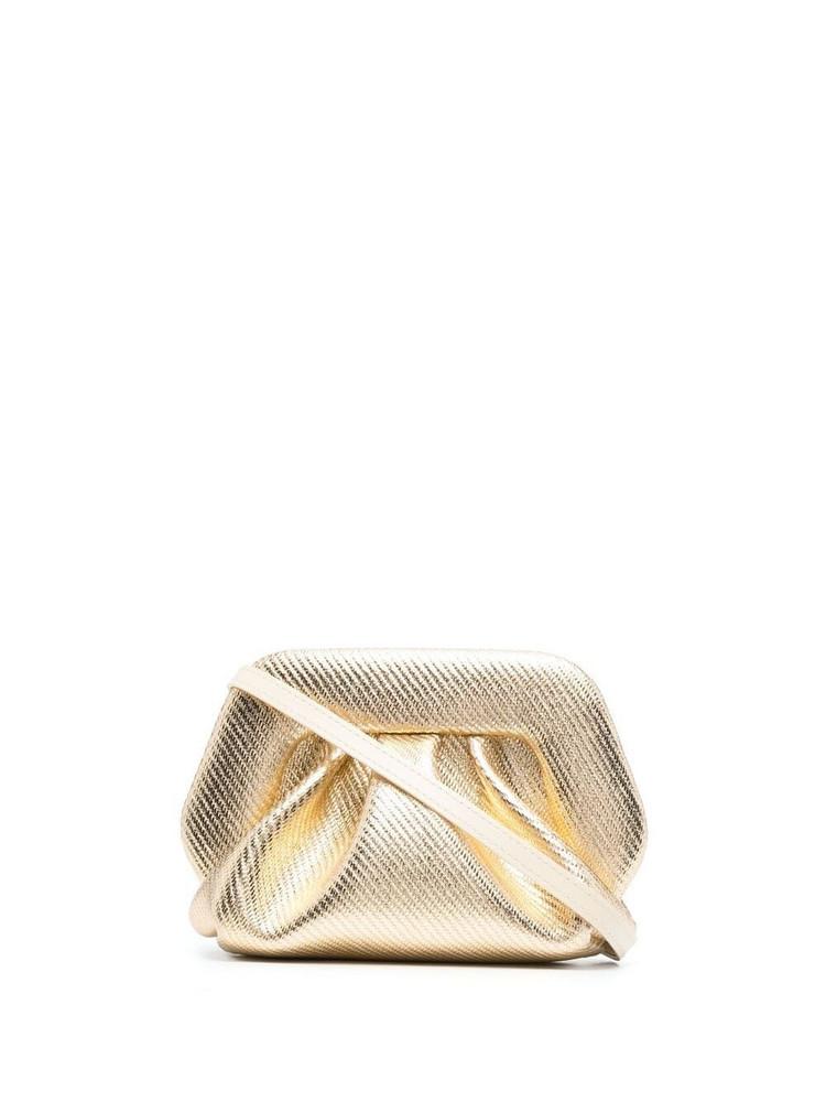 Themoirè Themoirè metallic-effect clutch bag - Gold