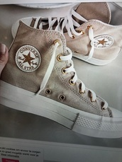 shoes,chuck taylor all stars,white converse chucks platform,chucks converse,converse chuck metallic rose,converse,high top converse,white converse,white converse all star,all star,all star shoes,white all star,desert style,brown,brown shoes,beige,beige shoes