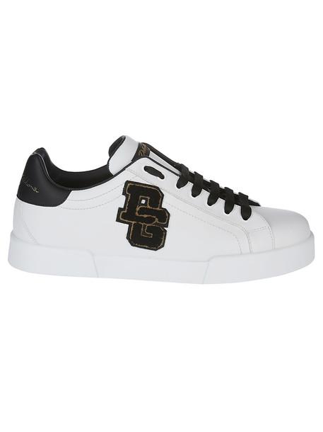 Dolce & Gabbana Portofino Sneakers in black / white