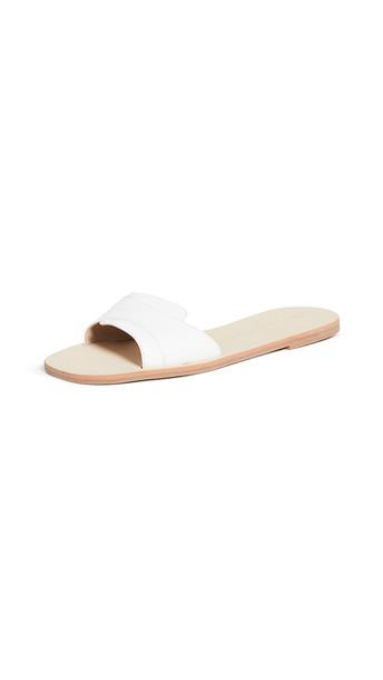 cupcakes and cashmere Farella Slide Sandals in white