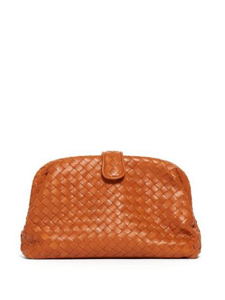 Bottega Veneta - The Lauren 1980 Leather Clutch - Womens - Orange