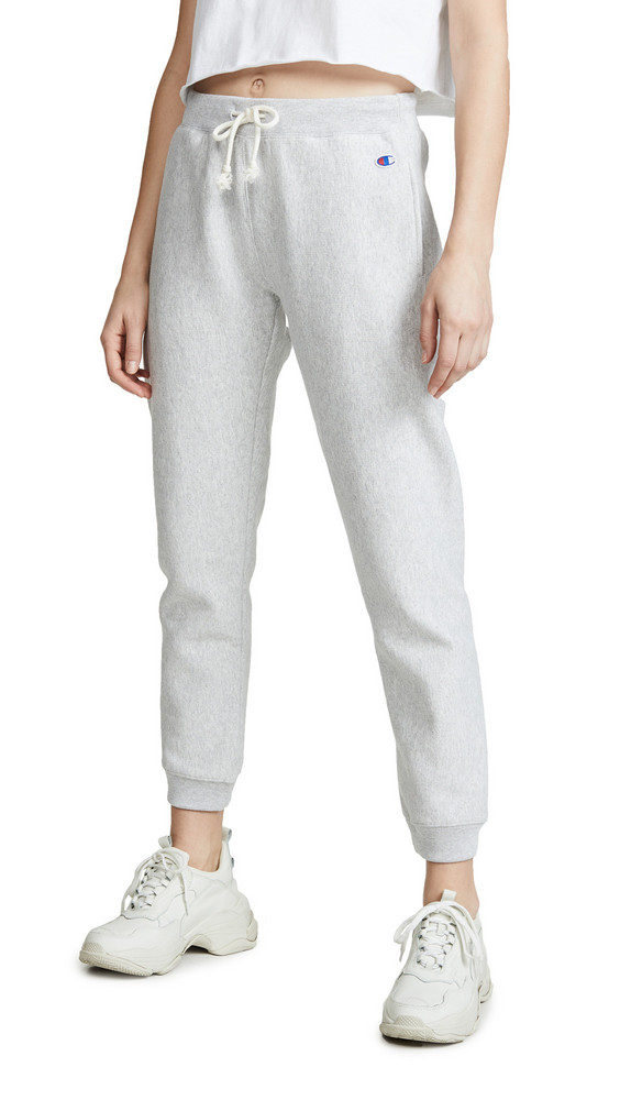 Champion Premium Reverse Weave Elastic Cuff Sweatpants in grey