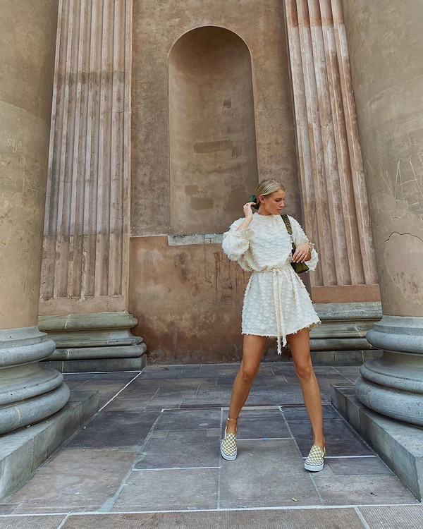 shoes sneakers mini dress long sleeve dress bag