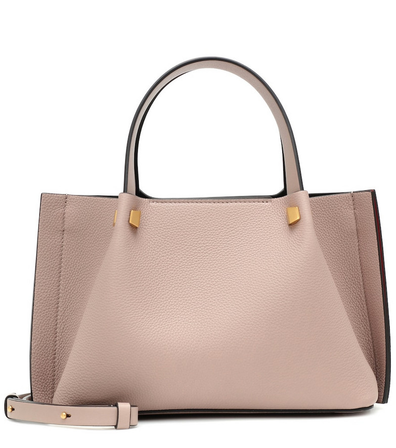 Valentino Garavani VLOGO Escape Small leather tote in pink