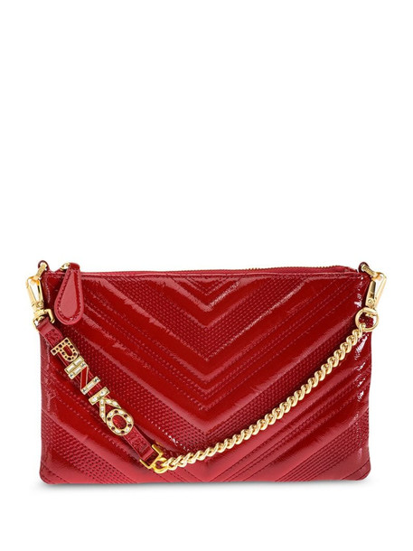 Pinko logo quilted clutch in red
