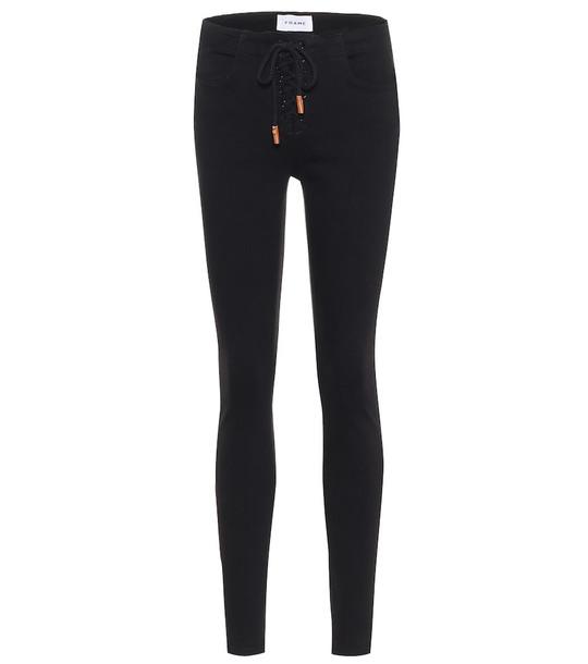 Frame Le Skinny de Jeanne mid-rise jeans in black