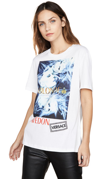 Versace Graphic Tee in white