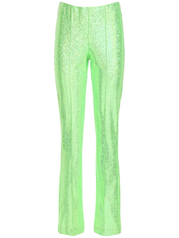SAKS POTTS Lissi Shimmer Stretch Pants in green