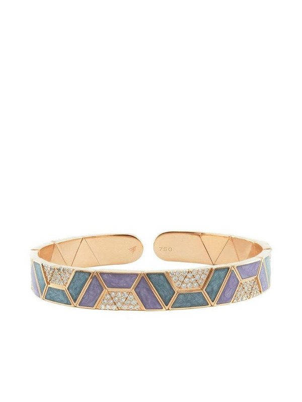 Alessa 18kt rose gold diamond Elixir Continuity Binary bracelet in pink